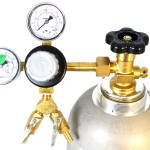 T742-Taprite Primary CO2 Keg Brass Beer Double Gauge Regulator